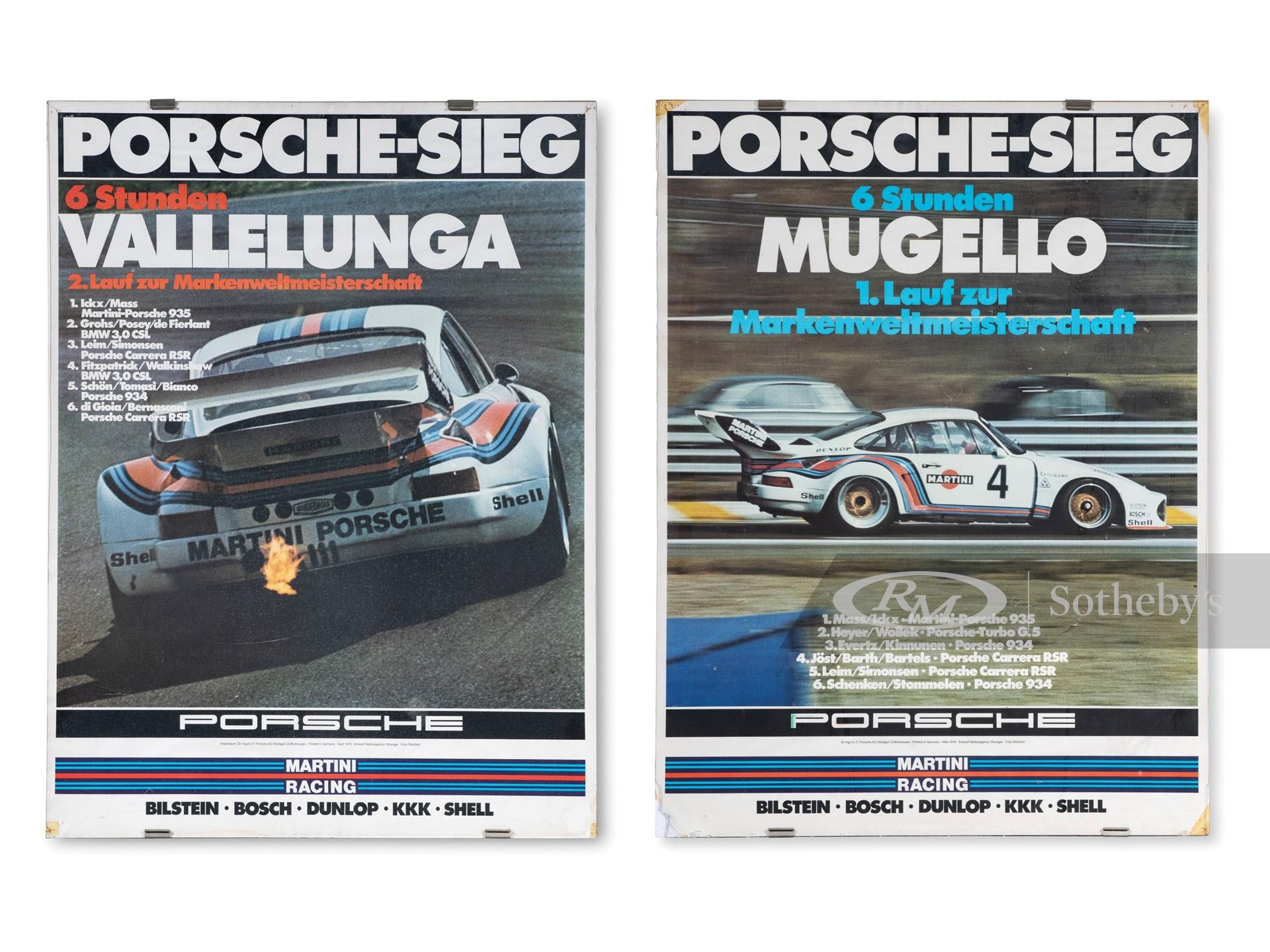 Pair of Porsche Posters -