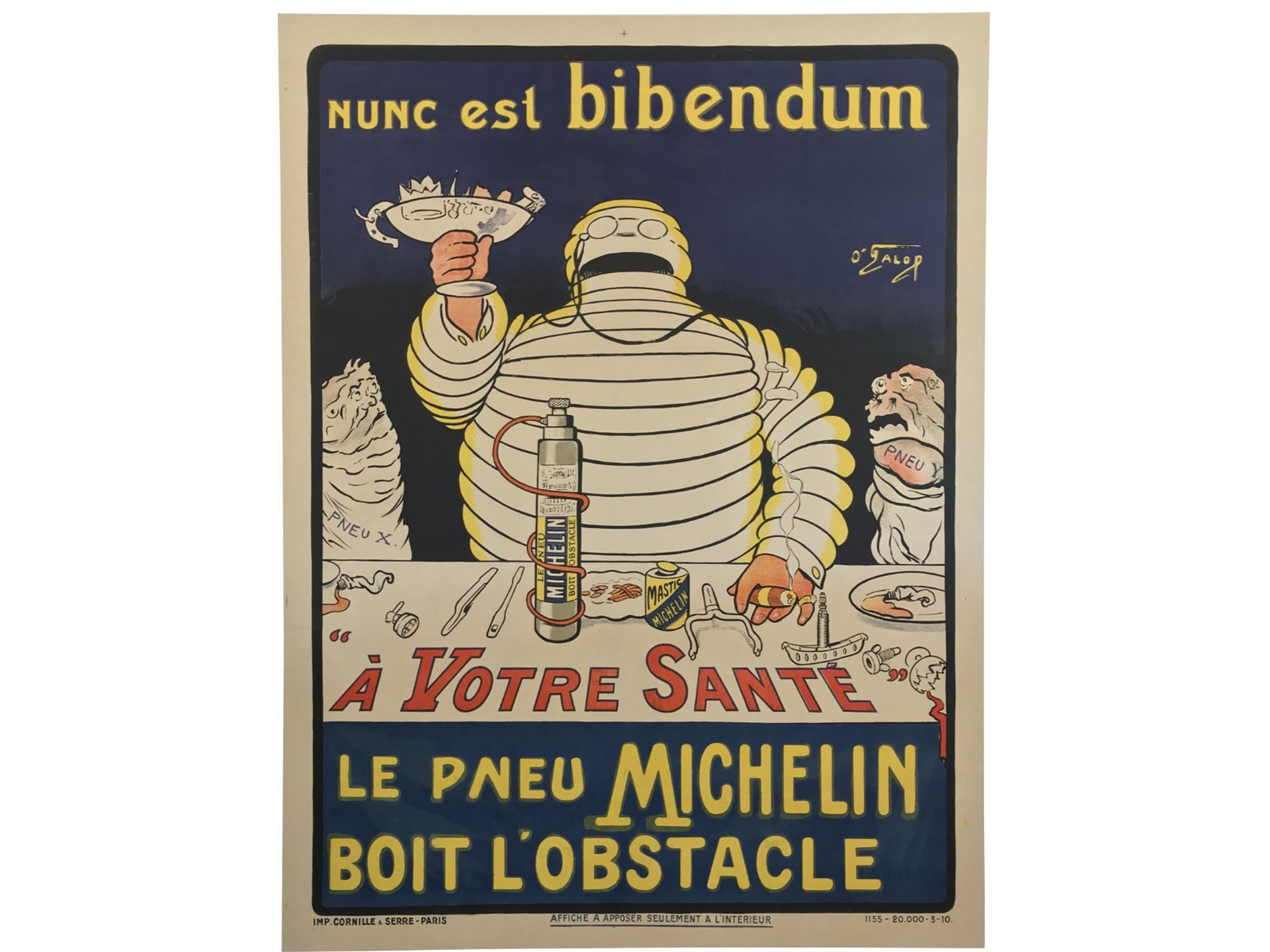 """Nunc est Bibendum"" Michelin Poster by O'Galop, 1910"