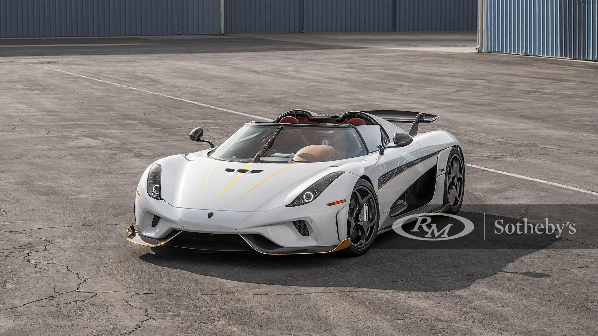 Crystal White/Clear Carbon 2019 Koenigsegg Regera available at RM Sotheby's Arizona Live Auction 2021