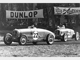 1936 Delahaye 135 S Compétition Court in the style of Chappe Frères - $Chassis no. 46810 at the Donington Grand Prix in October of 1936, where it finished 8th.