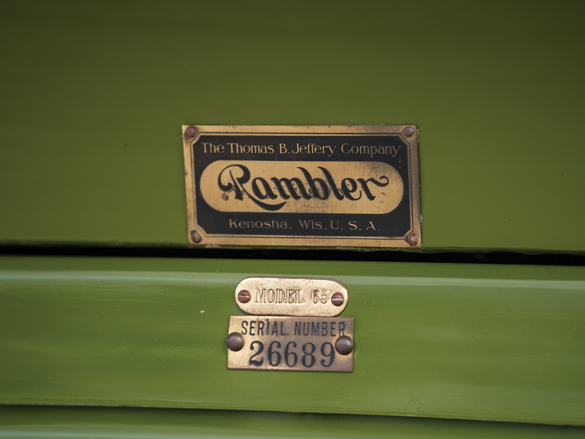RM Sotheby's - 1911 Rambler Model 65 Seven-Passenger Touring