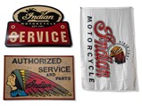 Indian Motorcycle Reproduction Signs and Flag - $