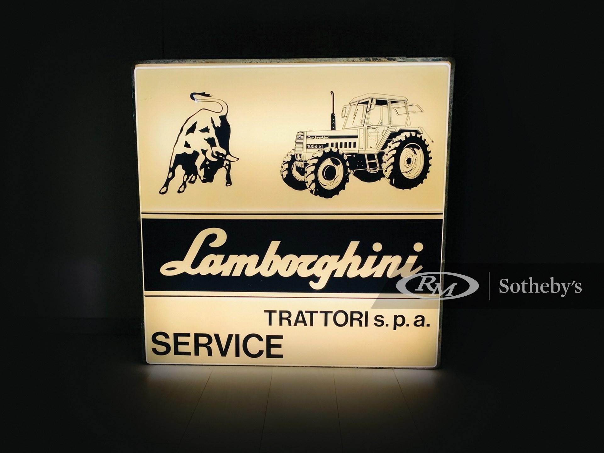 Lamborghini Illuminated Dealership Sign, ca. 1960s -
