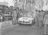 1959 Alfa Romeo Giulietta Spider by Pinin Farina - $The Alfa Romeo Giulietta Spider, driven by Mario Tropia and Giuseppe Parla, at the 1961 Targa Florio.