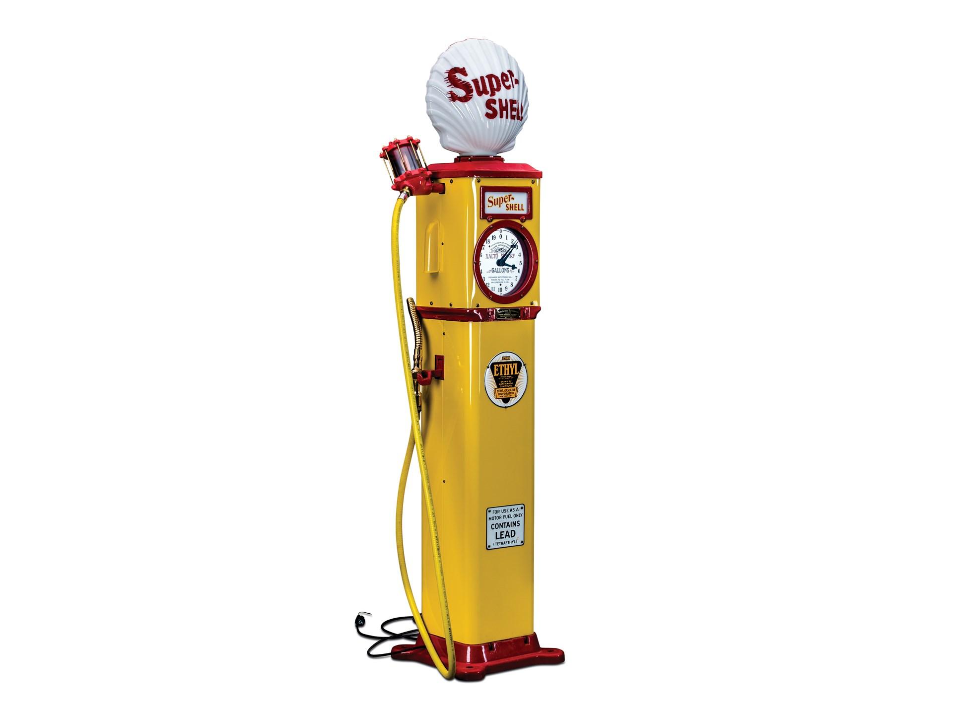 RM Sotheby's - Bowser Xacto Sentry Clock Face Gas Pump