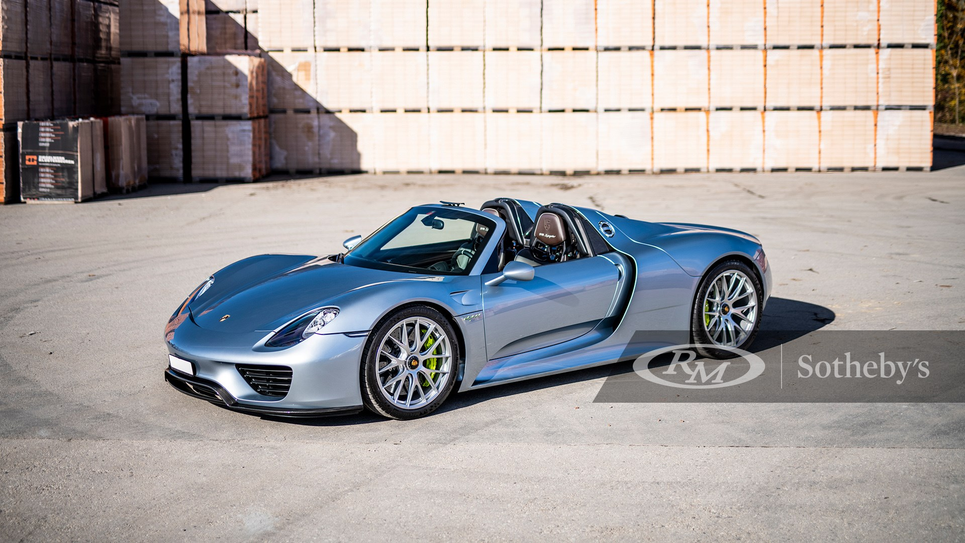Liquid Chrome Blue Metallic 2015 Porsche 918 Spyder available at RM Sotheby's Online Only Open Roads February Auction 2021