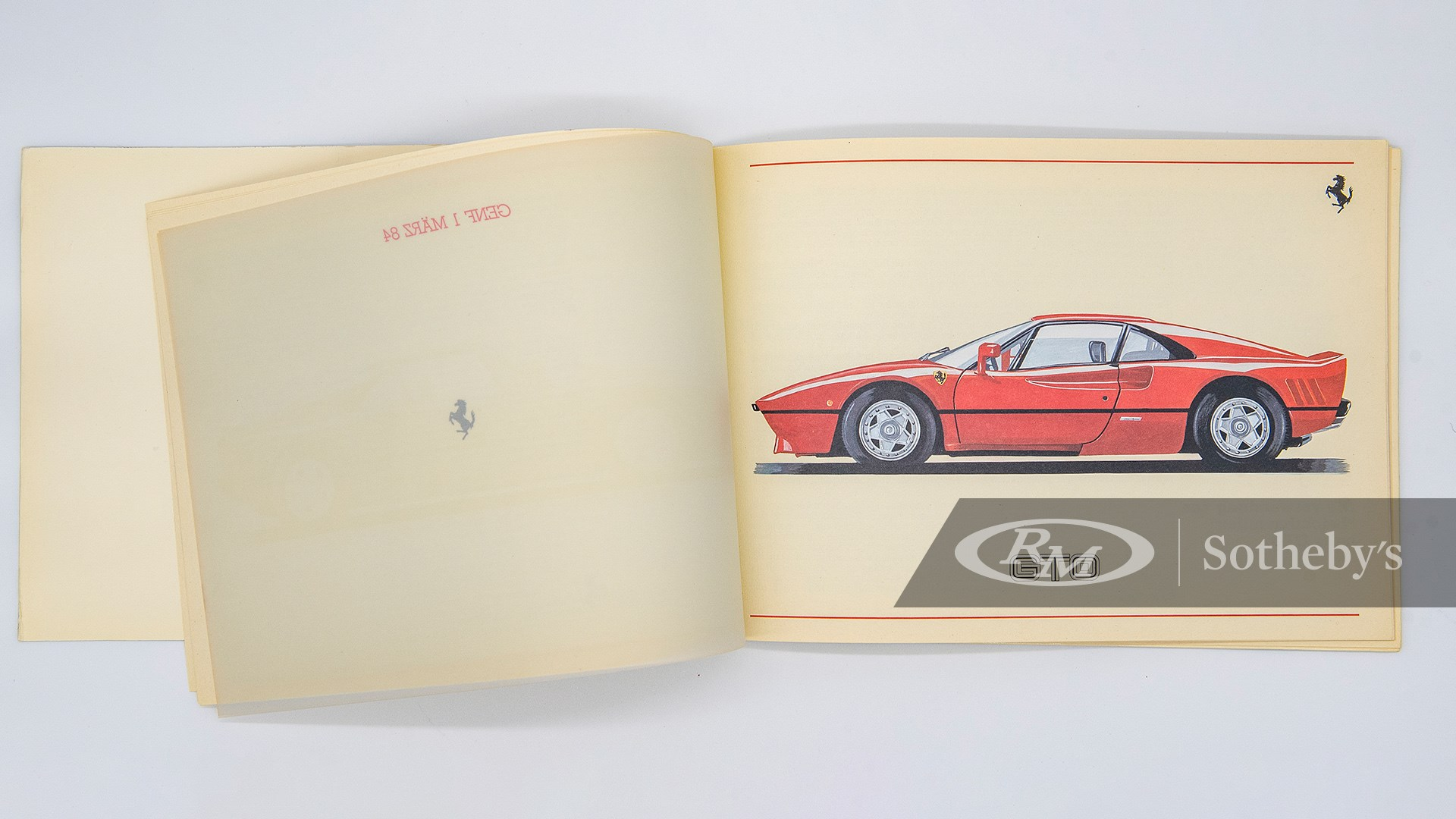 Ferrari 288 GTO Owner's Manual Set with Folio available at RM Sotheby's Online Only Open Roads April Auction 2021