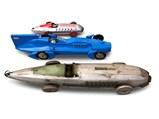 Three Tin Toy Race Cars - $