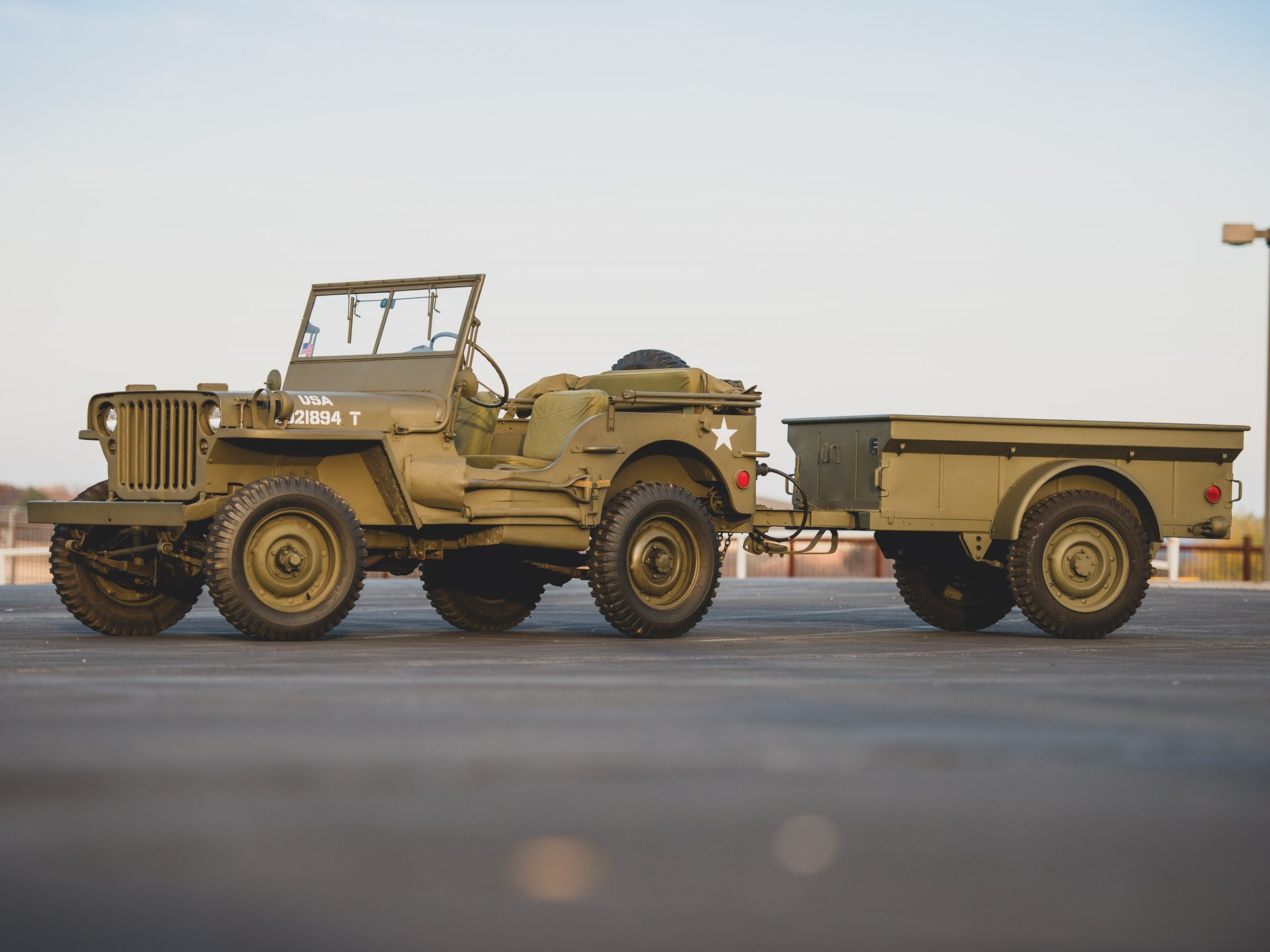 Rm Sotheby S 1942 Willys Mb Jeep Trailer Amelia Island 2019