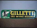 Gillette Tin Sign - $