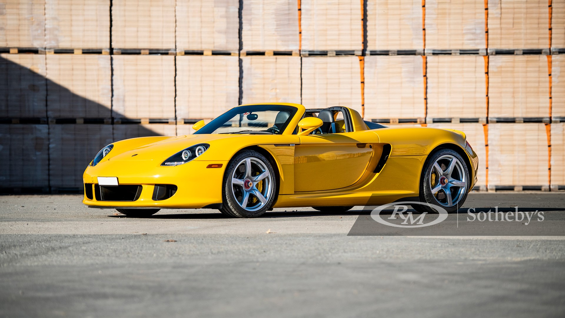 Fayence Yellow 2005 Porsche Carrera GT available at RM Sotheby's Online Only Open Roads February Auction 2021