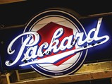 Packard with Lug Nut Logo Neon Signs Mounted Back-To-Back - $