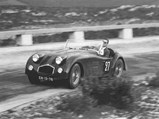 1947 HRG Aerodynamic by Fox & Nicholl - $Simon Knudsen Hansen behind the wheel of the HRG at the 1952 Gradil Hillclimb.