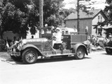 1927 Hudson Model O Super Six Fire Truck  - $Bruce and Evelyn Mori-kubo show off the Alden Fire Department Engine No. 1 in the Alden centennial parade in 1979.