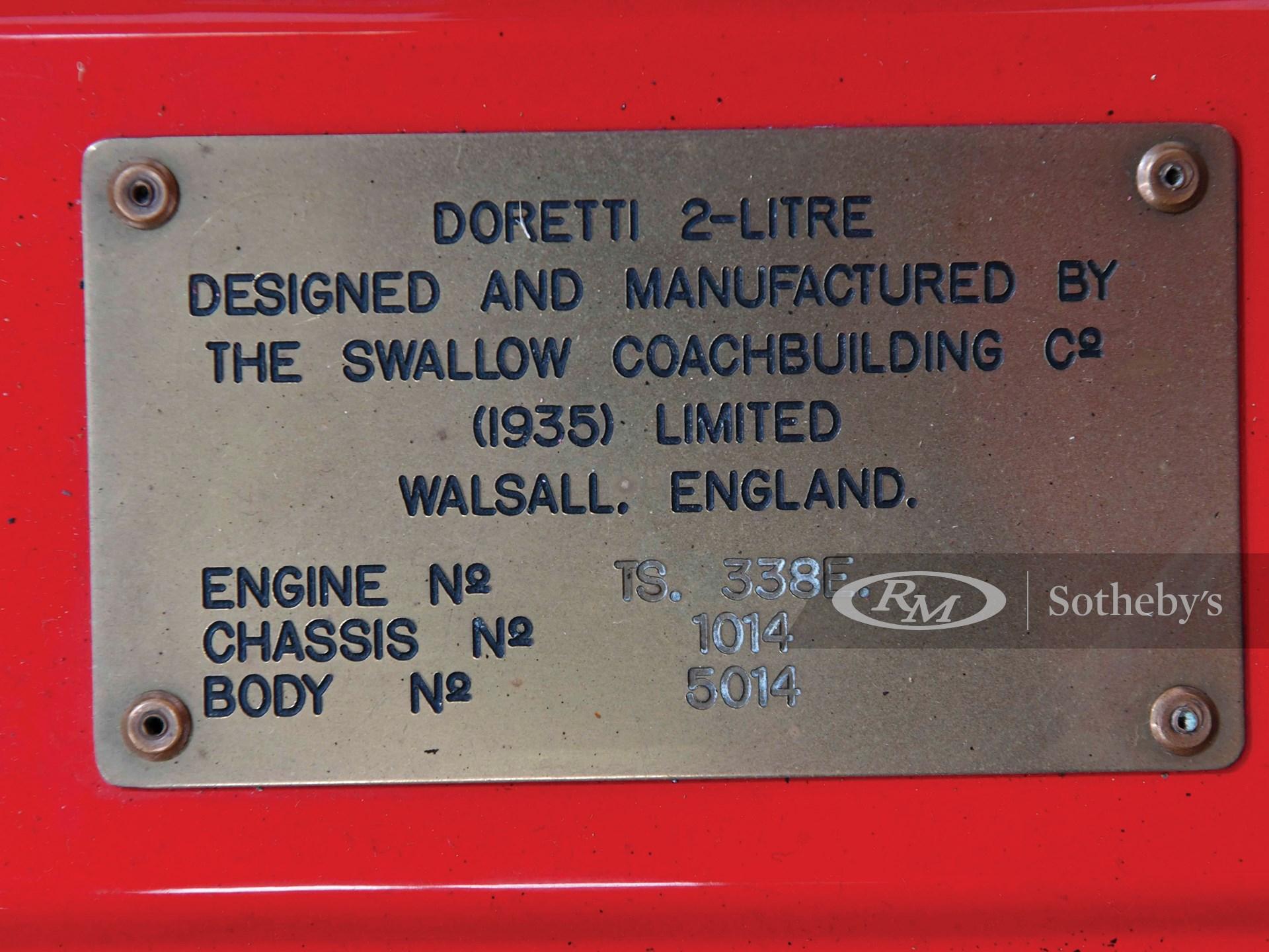 1954 Swallow Doretti  -