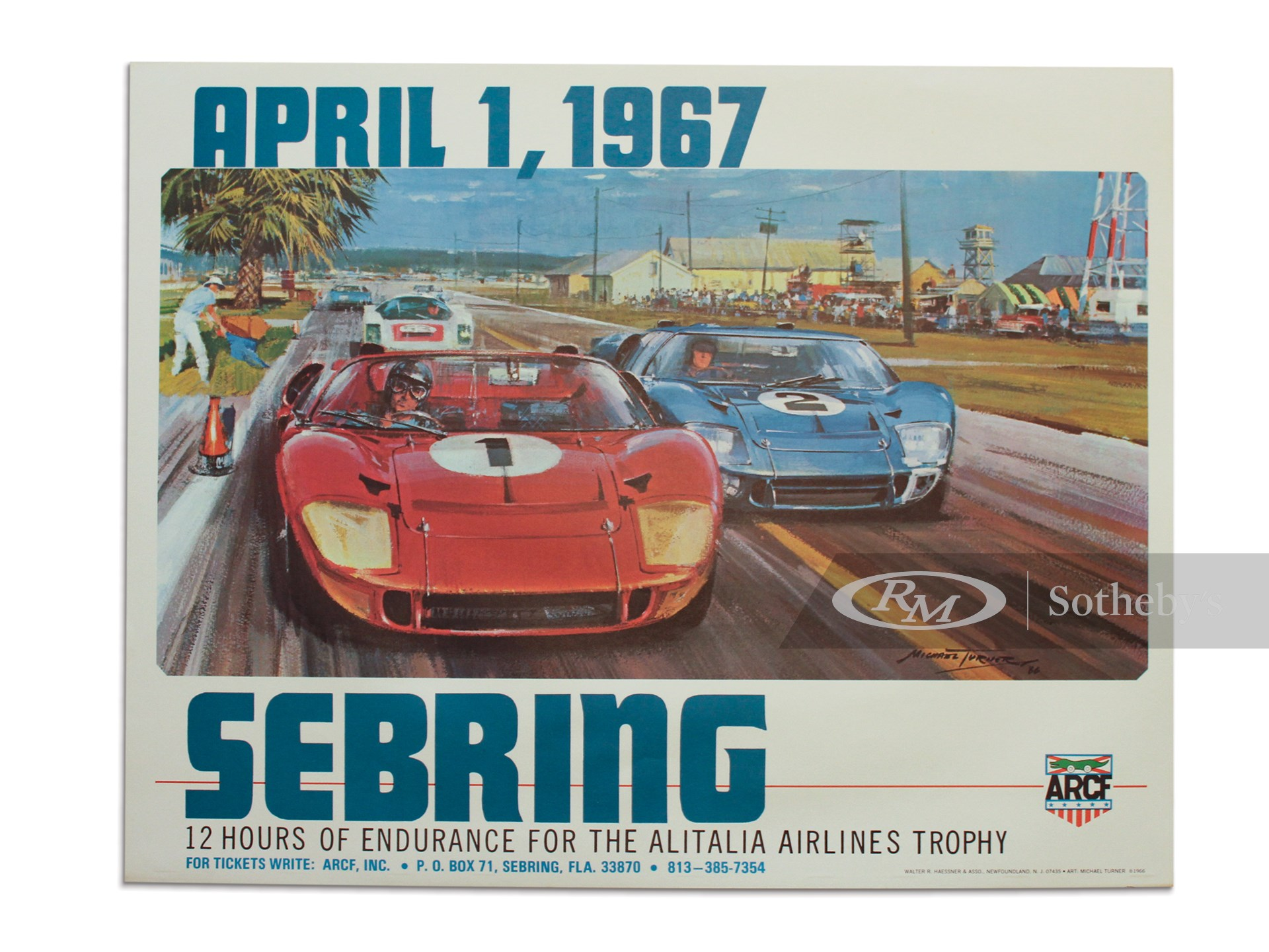022 Vintage Advertising Transport Art  Sebring Raceway