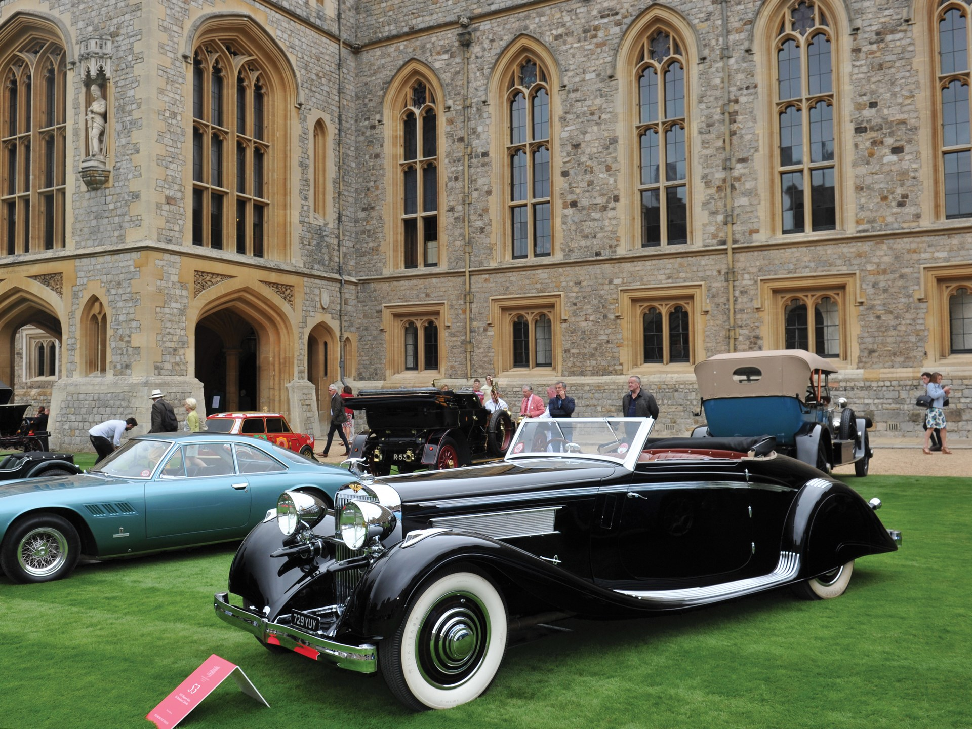 The Hispano-Suiza on display at the 2016 Concours of Elegance at Windsor Castle.