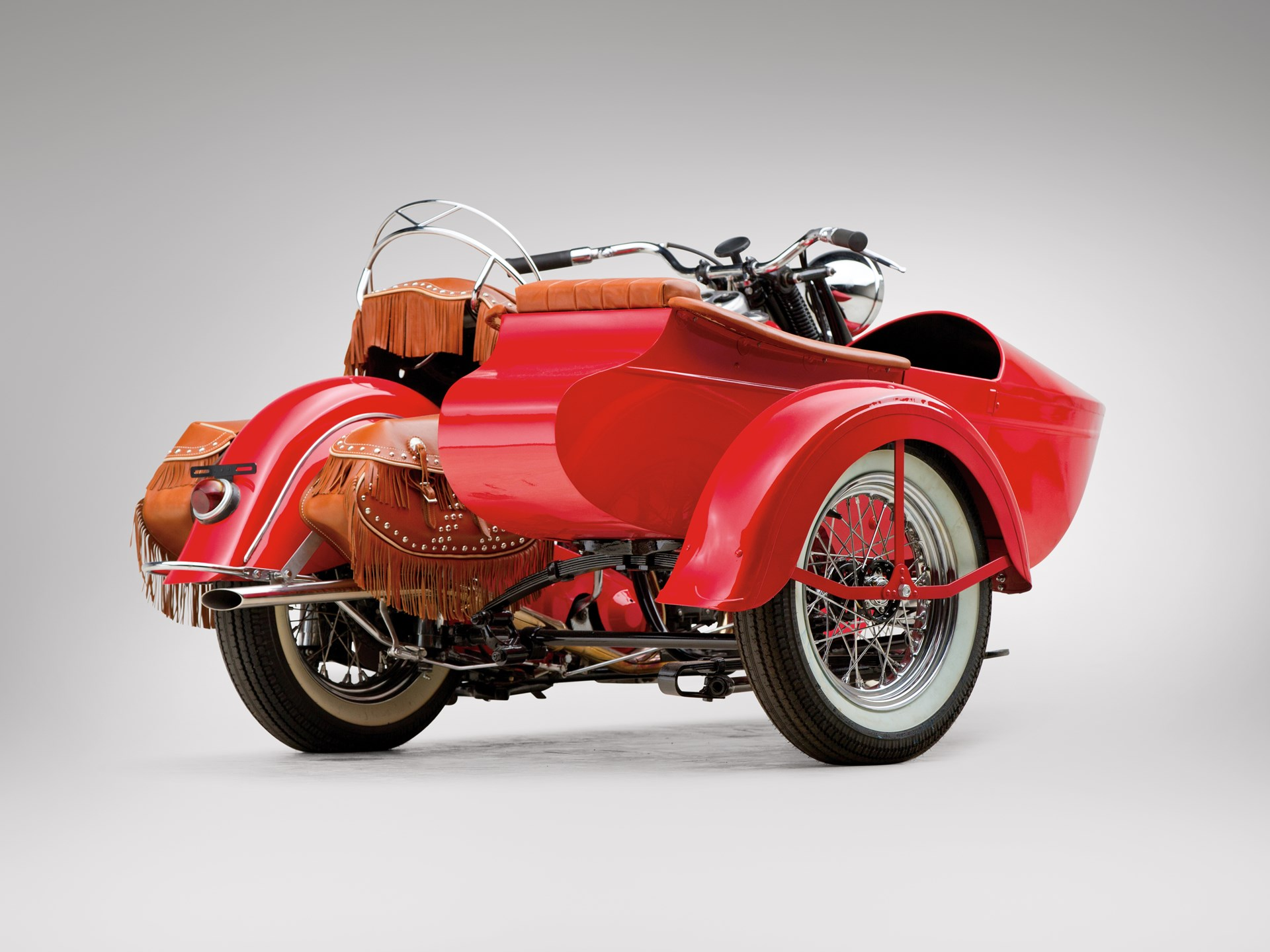 RM Sotheby's - 1946 Indian Chief Motorcycle and Sidecar