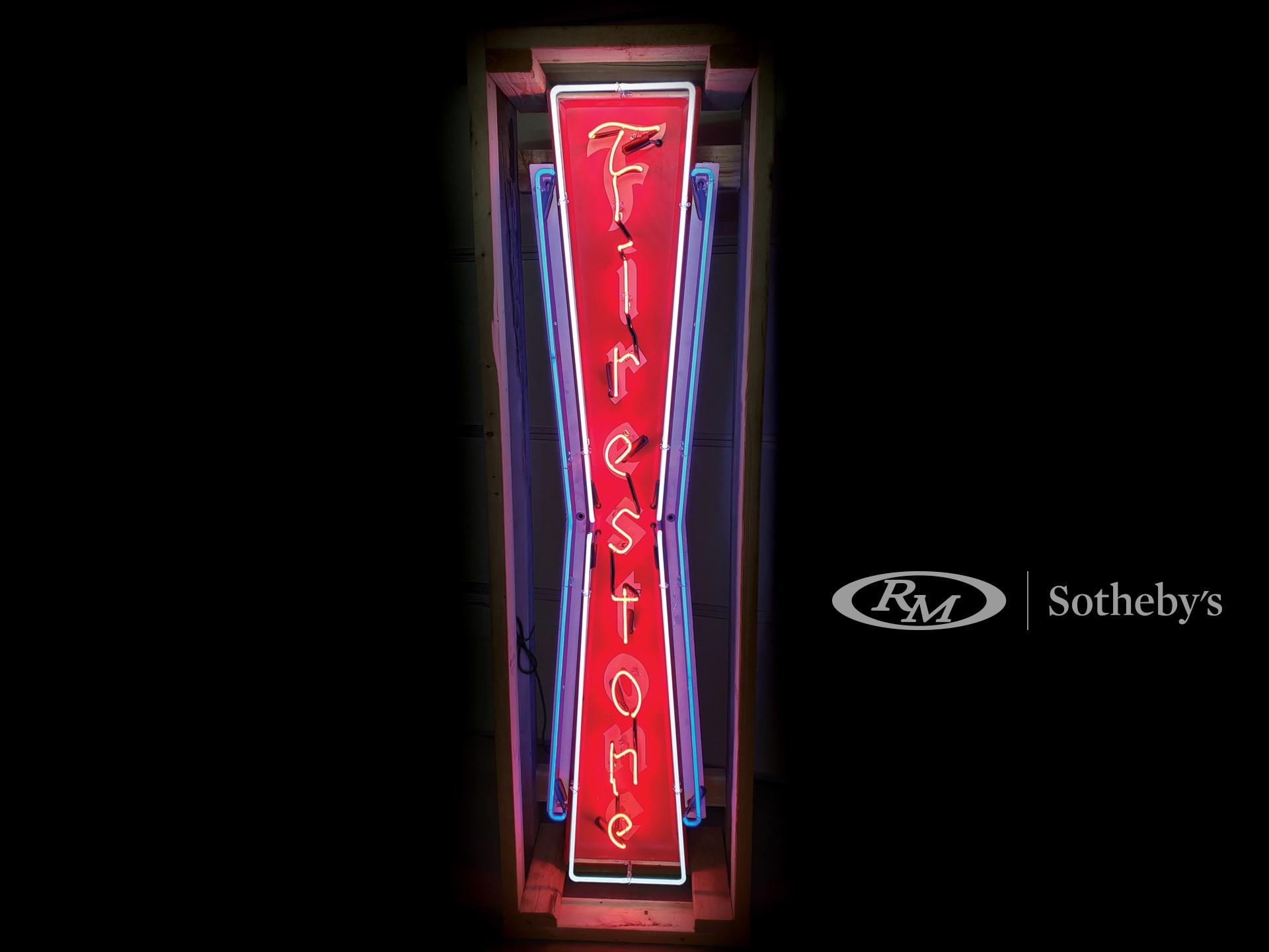 Firestone Neon Tin Sign -