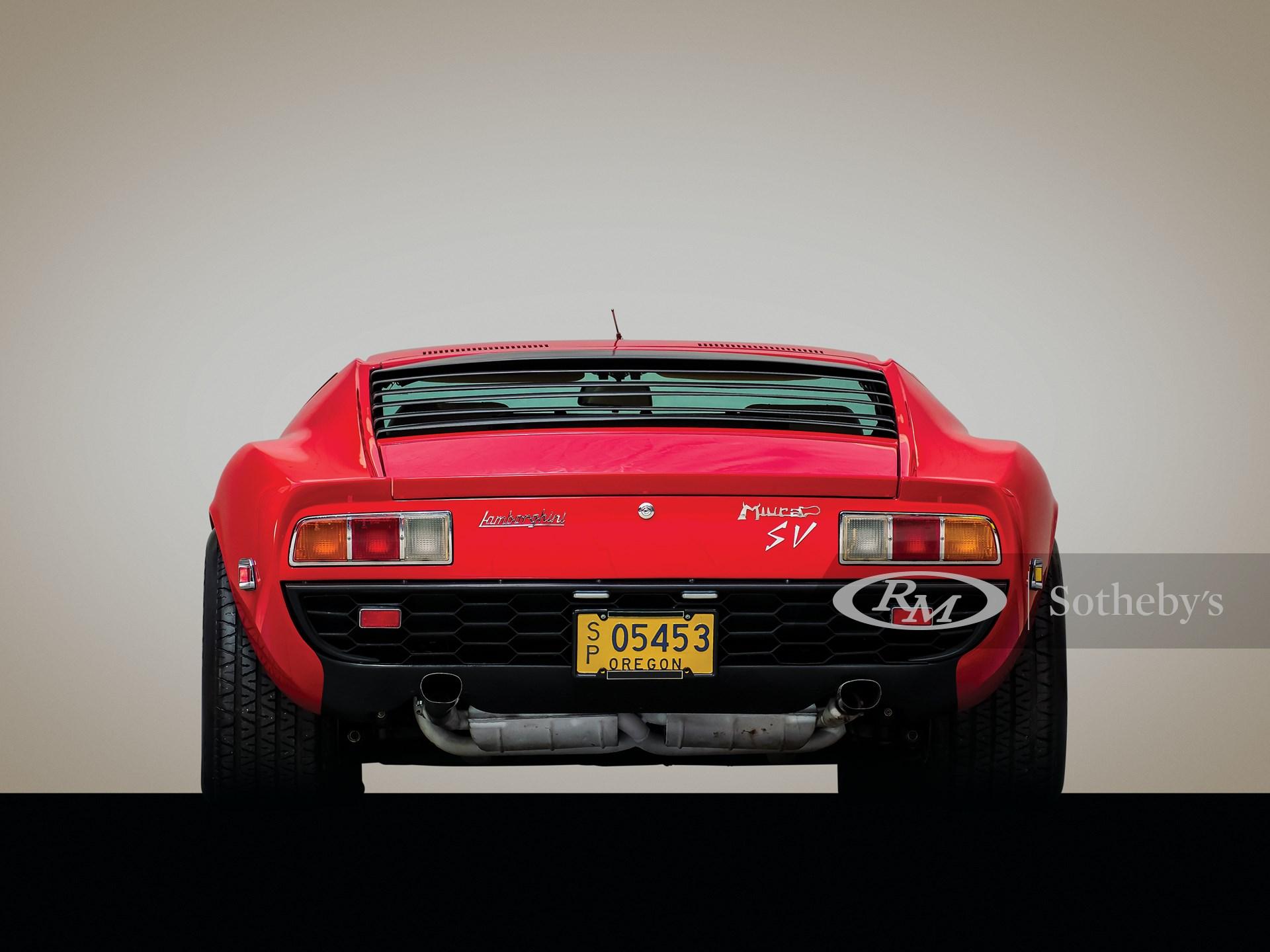 1971 Lamborghini Miura P400 SV by Bertone -