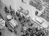 """1950 Ferrari 166 MM/212 Export """"Uovo"""" by Fontana - $The Uovo stages for the start of the 1951 Mille Miglia."""