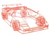Lamborghini Countach 'Koenig' by Benedict Radcliffe, 2007 - $