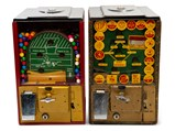 Football and Baseball Victor Gumball Machines - $