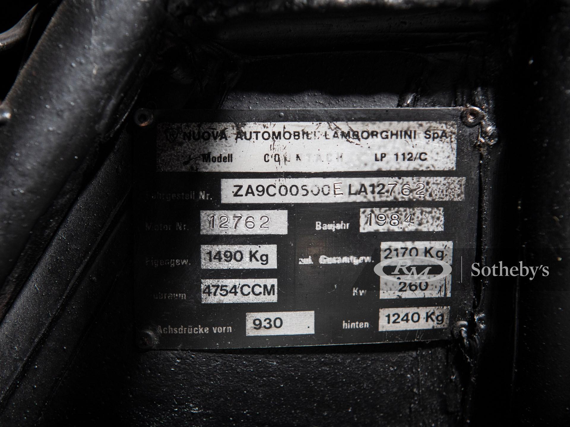 1984 Lamborghini Countach LP500 S by Bertone -