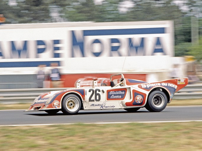 On track at the 1977 24 Hours of Le Mans, where the Chevron placed 6th overall and 1st in class, winning the Index of Efficiency.