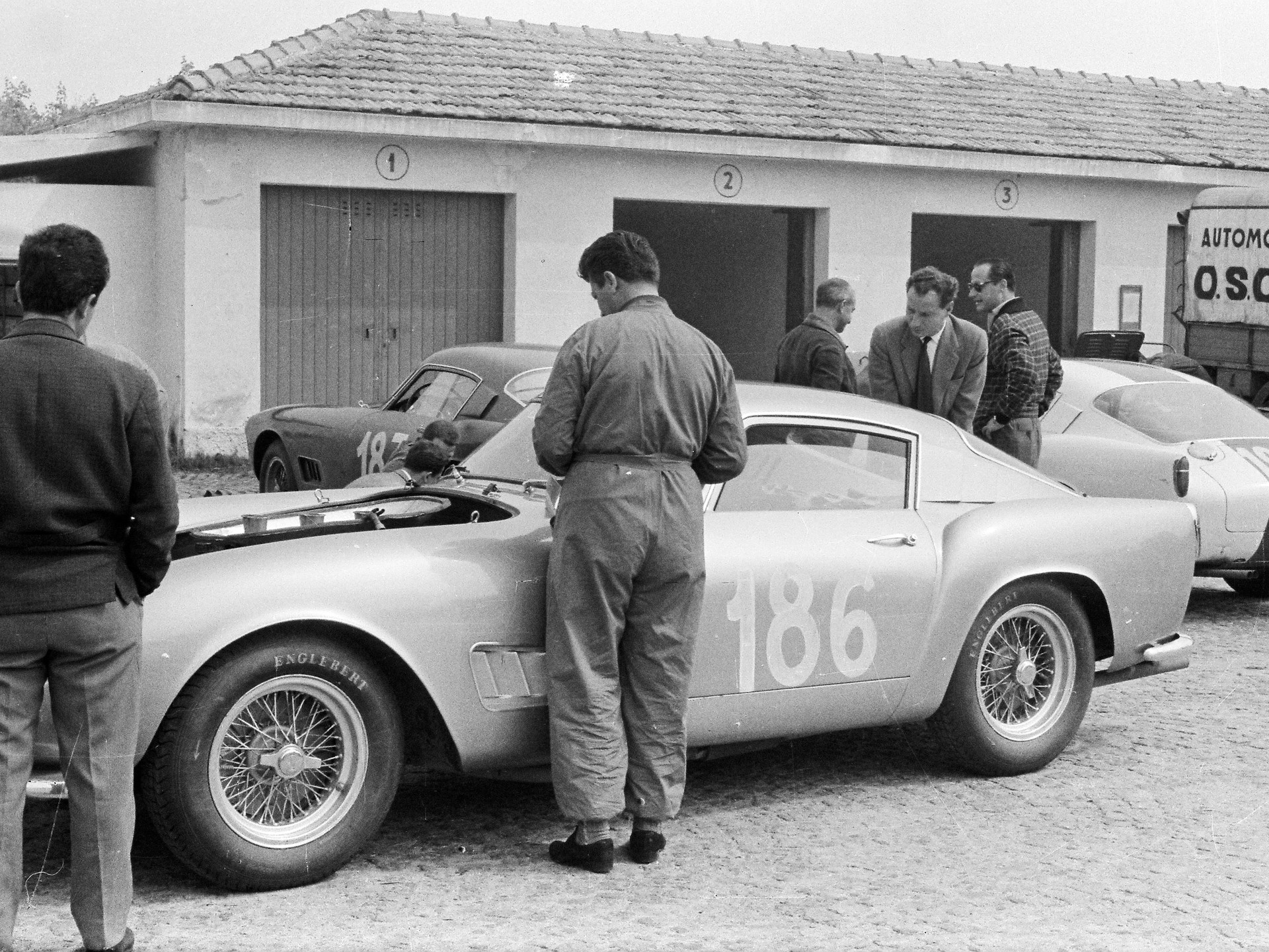 Pierre Noblet, #186, 3rd OA. Coppa Sant'Ambroeus, Monza, May 3, 1959.