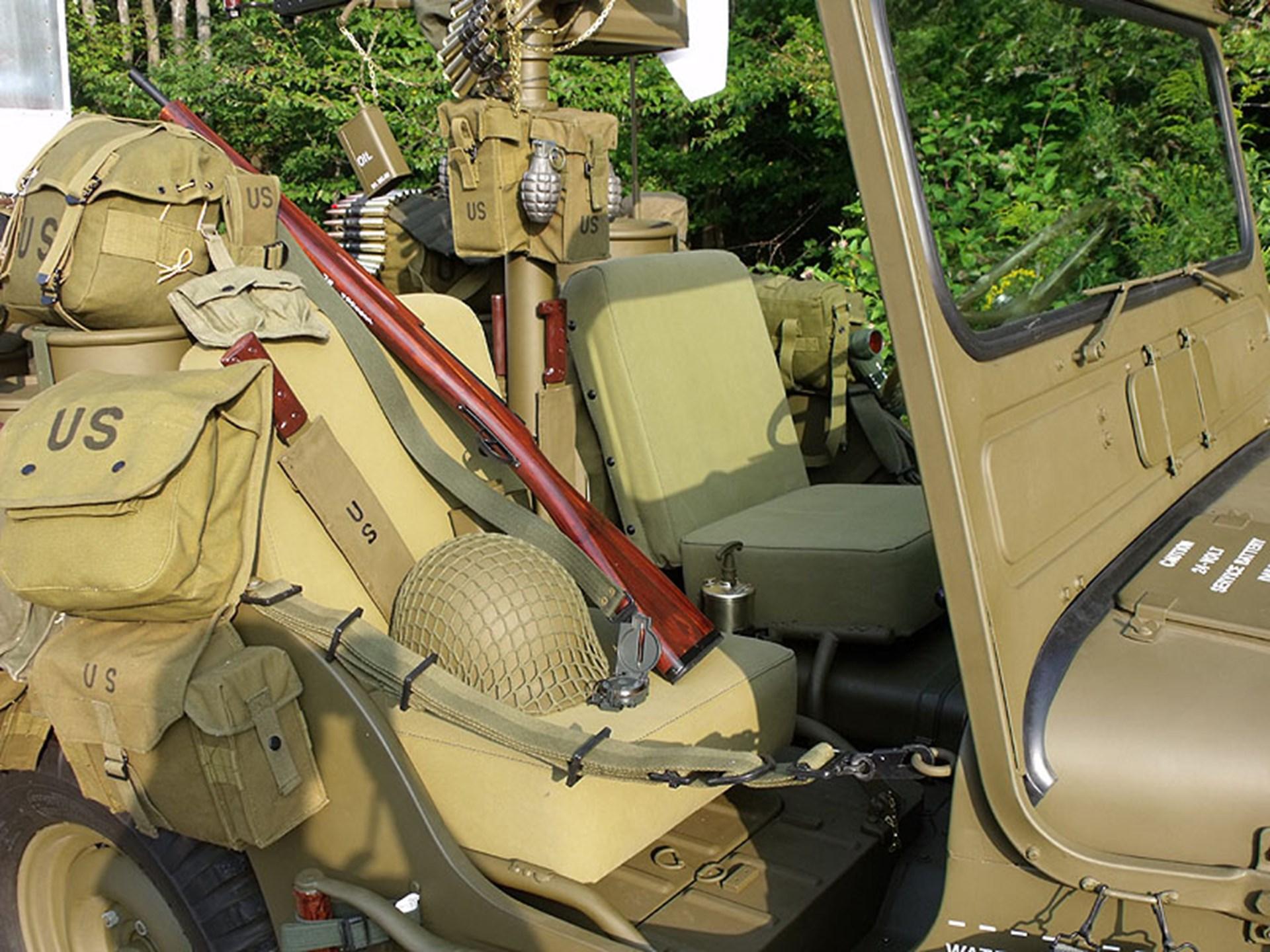 Rm Sothebys 1952 Willys M38 Korean War Military Jeep Hershey 2011 Rear Seat