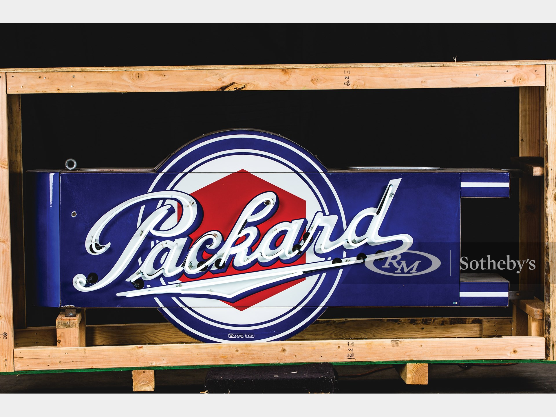 Packard with Lug Nut Logo Neon Signs Mounted Back-To-Back -
