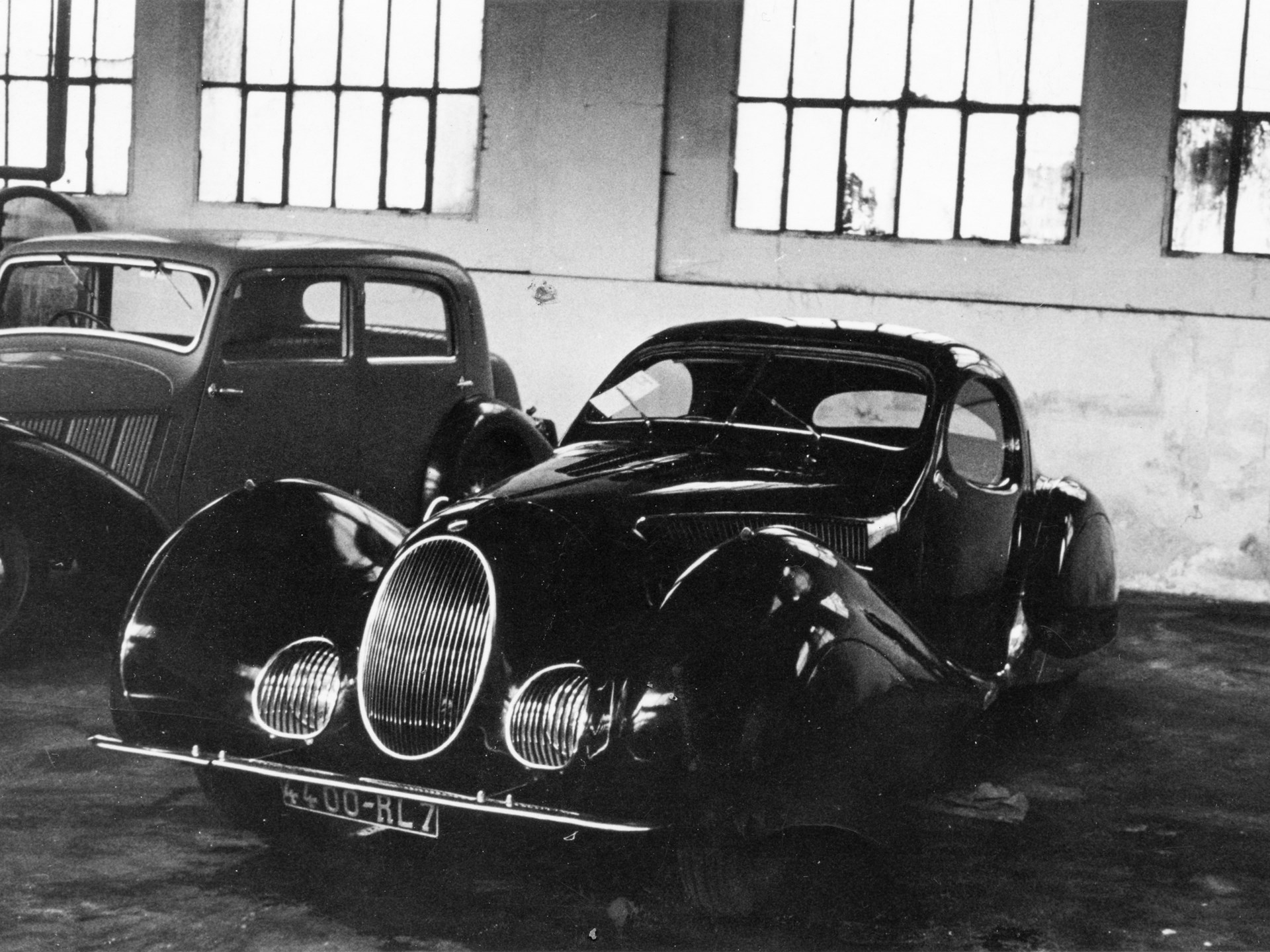 Chassis no. 90110 sitting inside the Talbot factory prior to World War II.