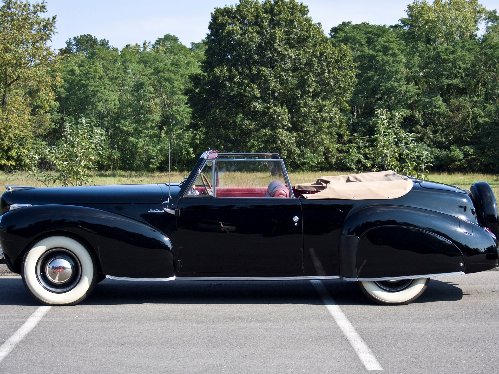 Rm Sothebys 1941 Lincoln Continental Convertible Hershey 2011 Interior