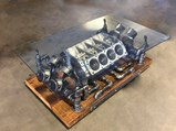V-8 Engine Block Glass Coffee Table - $