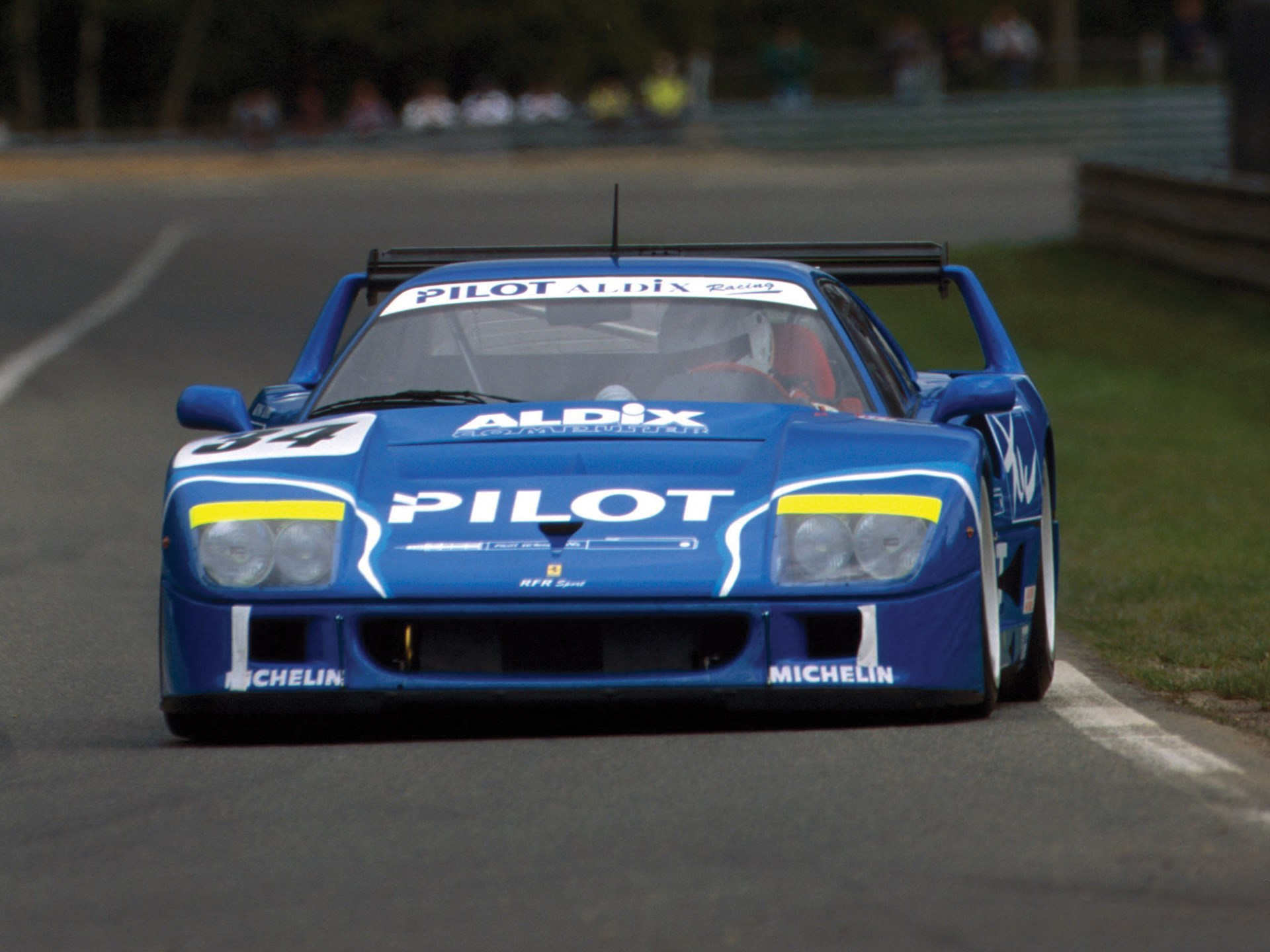 Chassis no. 74045 at pre-qualifying for the 24 Hours of Le Mans in April of 1995.