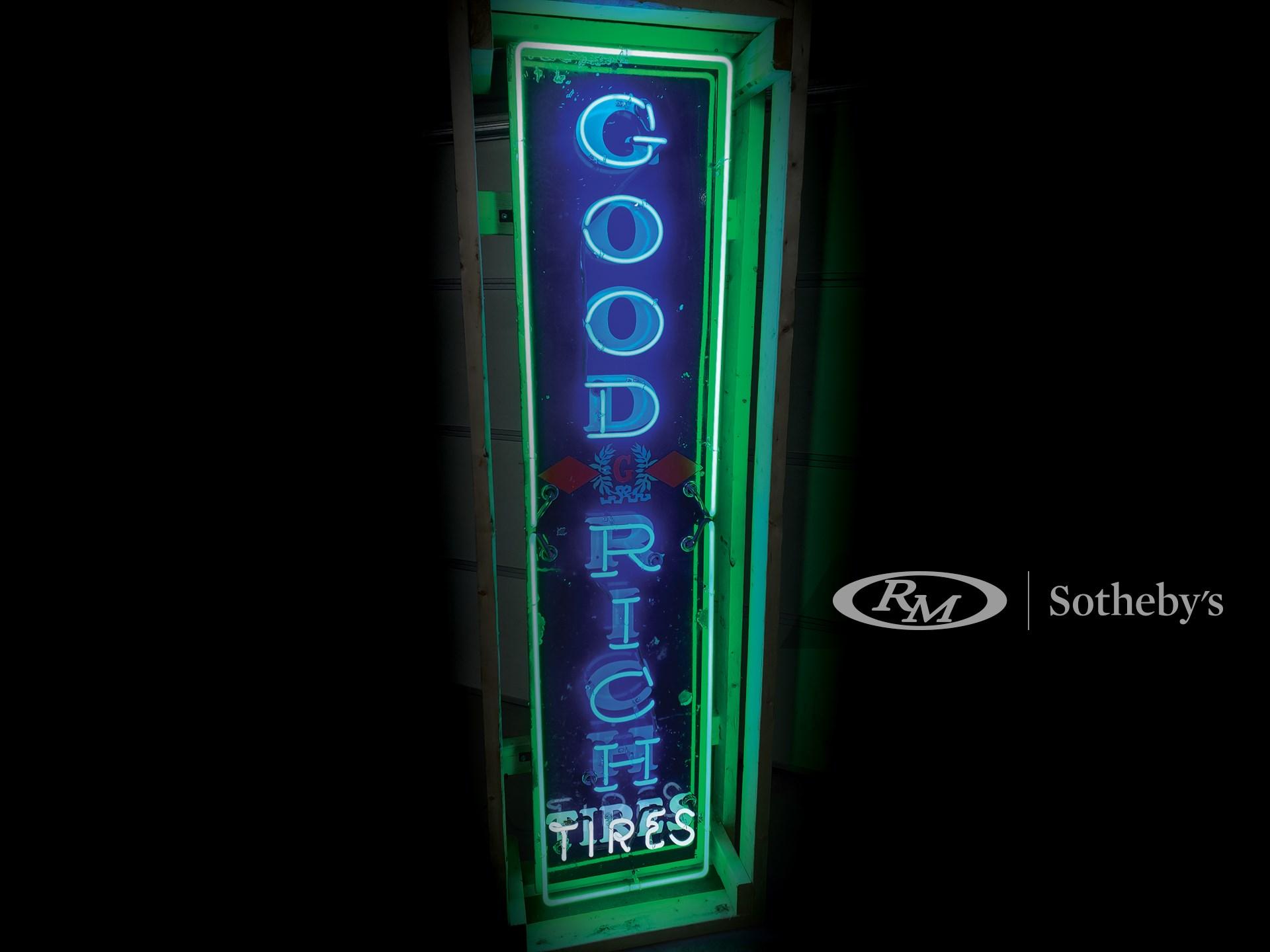 Goodrich Neon Porcelain Sign -