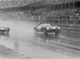 1954 Jaguar D-Type Works  - $OKV 2 at the 1957 Euopean Grand Prix at Aintree with Jack Fairman.