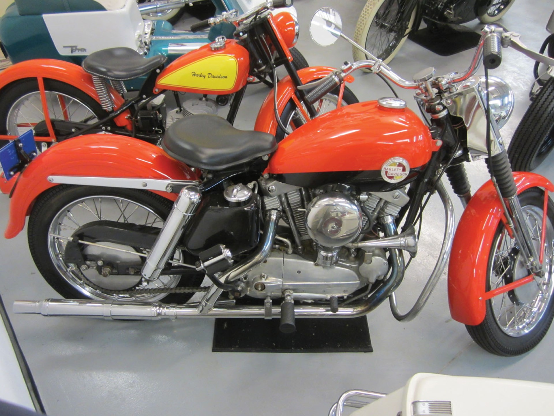 Rm Sothebys 1957 Harley Davidson Sportster Las Vegas Premier 2012 Red