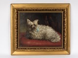 Terrier with a Blue Bow by E. Williams, 1877 - $