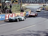 1956 Aston Martin DBR1  - $DBR1/1 leads a trio of Ferrari Testarossas, including the 250 TR/58 race winner, at the 1958 24 Hours of Le Mans.