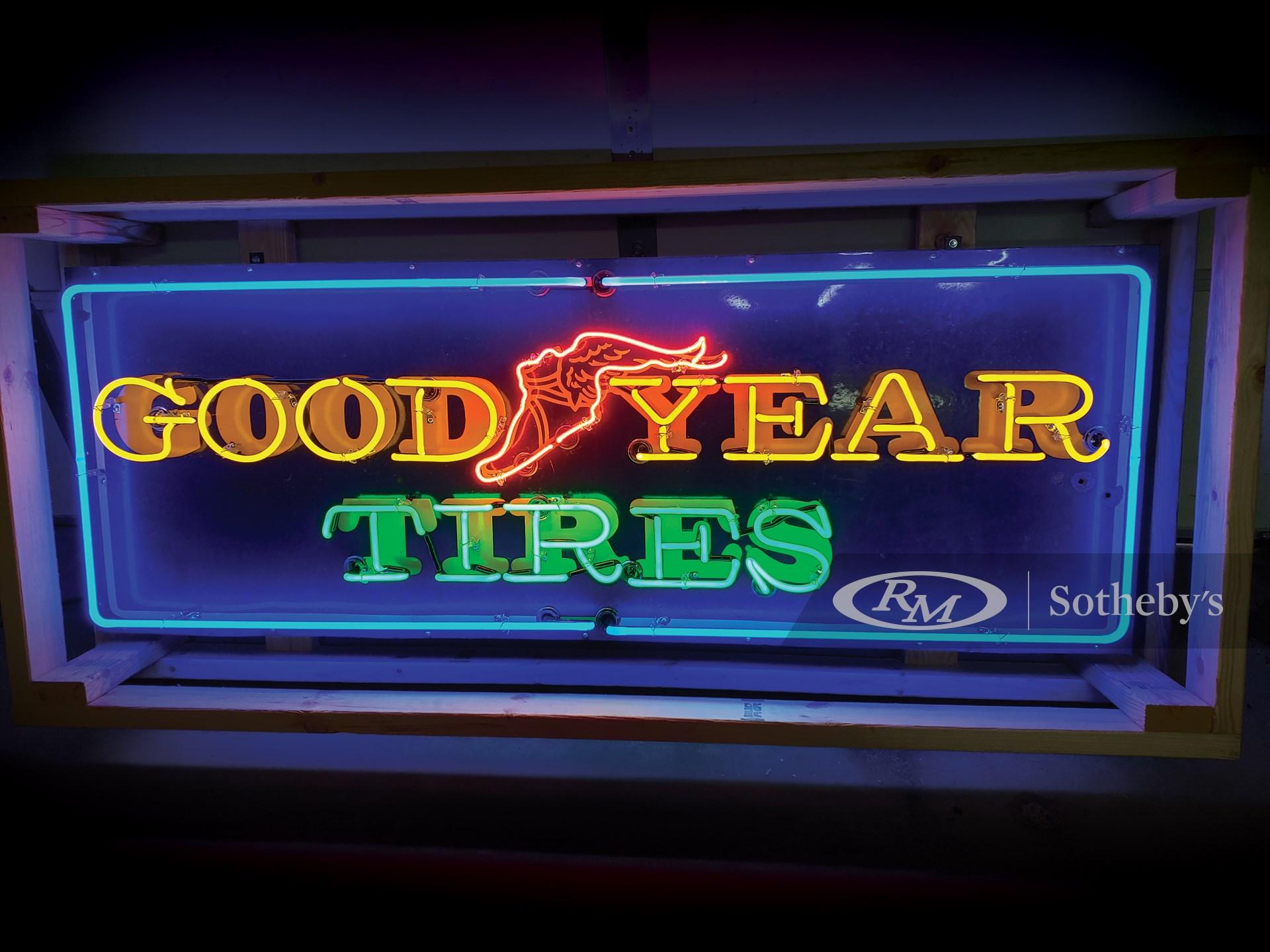 Goodyear Neon Porcelain Sign -