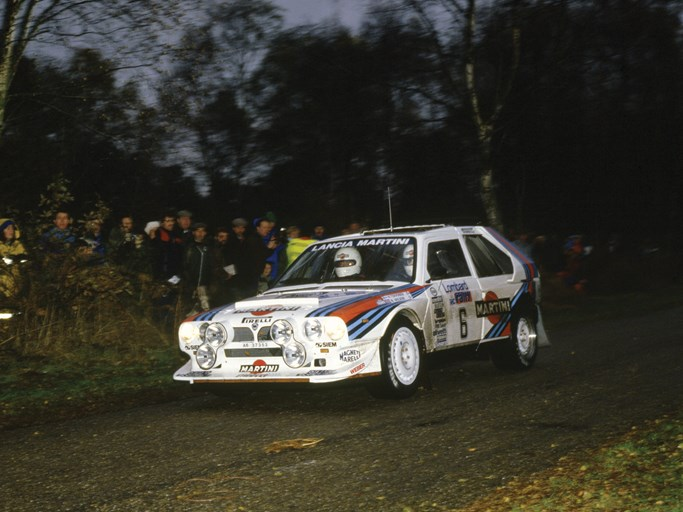Henri Toivonen en route to an overall win at the 1985 Lombard RAC Rally.