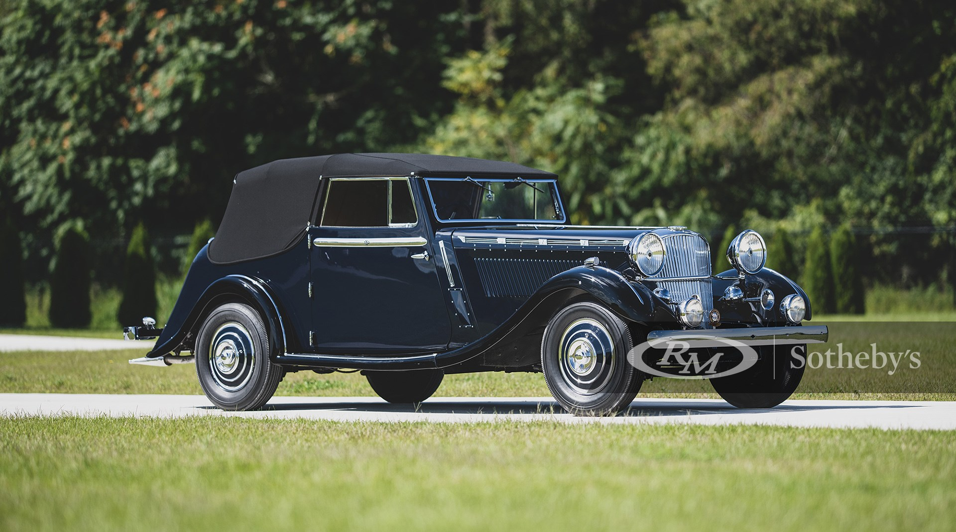 RM Sotheby's The Elkhart Collection 2020, 1937 Brough Superior 3 1/2 -Litre 'Dual Purpose' Drophead Coupe by Atcherley