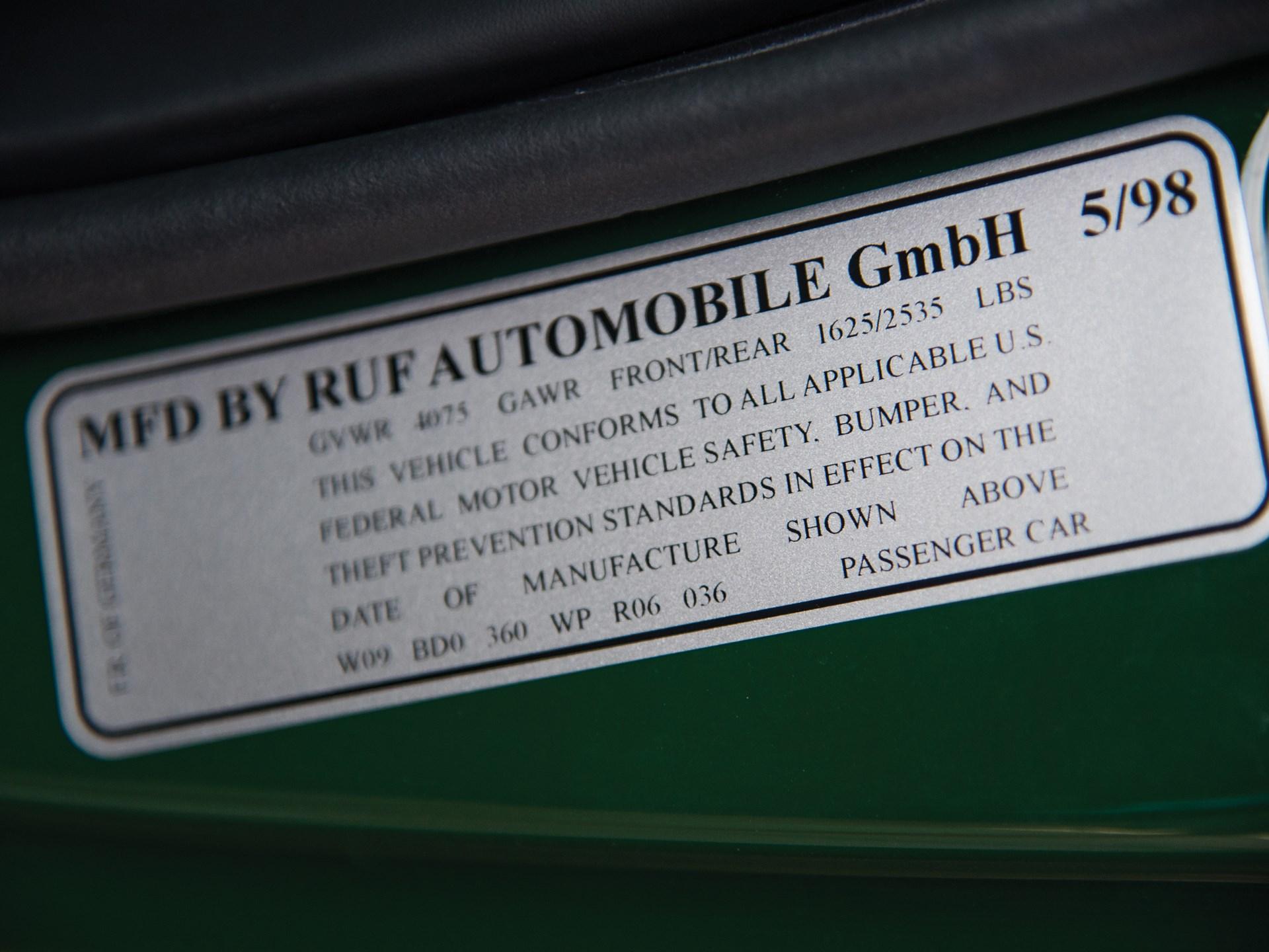 1998 RUF Turbo R Limited