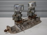 Sharp Intake Manifold with Dual Ford Carburetors - $