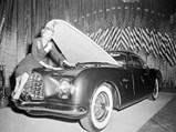 1952 Chrysler D'Elegance by Ghia - $Chrysler engineer Lucille Pieti makes last minute adjustments on the new Chrysler D'Elegance at the Easter Parade of Stars at the Waldorf-Astoria in New York.