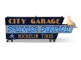 City Garage Service Station Michelin Tires Double-Sided Neon Sign - $