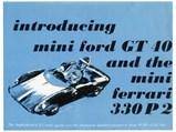Ford Mini GT 40 by SCAF, 1968 - $