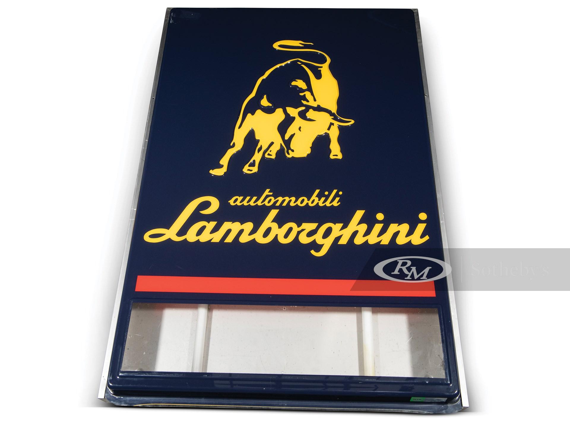 Lamborghini Dealership Sign, ca. 1990s -